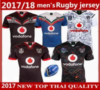 Wholesale Warriors Jersey Xl - 2017 2018 NEW Zealand Warriors Rugby jerseys Auckland NRL the star premiership ALL BLACKS RWC Super RUGBY home away rugby Shirts size S-XXX
