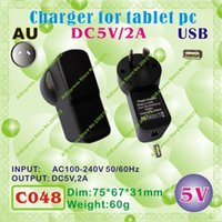 Wholesale Apple Power Cube - Wholesale- 2pcs [C048] USB   5V,2A   AU power plug (Australia Standard) Charger or Power adaptor for tablet pc;onda,ainol,cube,sanei
