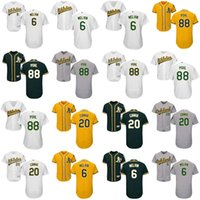 Wholesale Cheap Mens Athletic Shorts - Cheap Mens Womens Kids Toddlers Oakland Athletics 6 Bob Melvin 88 Philip Pohl 20 Mark Canha Grey Green White Gold Stitched Baseball Jerseys