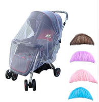 Wholesale Baby Mosquitos - Baby Stroller Pushchair Mosquito Insect Shield Net Safe Infants Protection Mesh By Cover Stroller Accessories Mosquito Net 150cm