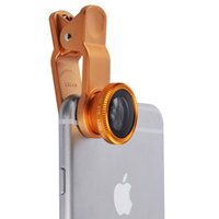 Wholesale 3 In Mobile Phone Macro Fish Eye Lens Universal Wide Camera Lenses for iPhone S C S Plus Samsung Galaxy S3 S5 CL318