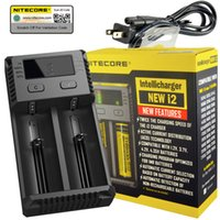 Wholesale Best Universal Battery Charger - Best Selling Nitecore new I2 Universal Charger for 16340 18650 14500 26650 Battery US EU AU UK Plug 2 in 1 Intellicharger Battery Charger