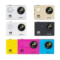 Wholesale video camera 4k - Hot selling H9R remote Action camera Waterproof Ultra HD 4K Video Action Camera 170 degrees Wide Angle Sports Camera 2-inch Screen MOQ:5PCS