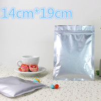 Wholesale Self Seal Bag 19cm - 14*19cm Pure Aluminum Foil Heat Seal Ziplock Zip Lock Packaging Bag Retail Mylar Self Seal Zipper Top Food Storage Package Bags