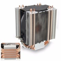 Wholesale Heatsink Fan 775 - Wholesale- 4 Heatpipe Radiator Quiet 3pin CPU Cooler Heatsink for Intel LGA1150 1151 1155 775 1156 AMD Fan Cooling for Desktops Computer