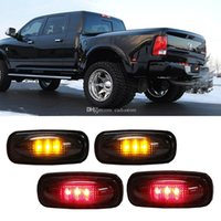 4x Lámpara LED Fender Lámparas laterales Lámpara ahumada (Amber + Red) para Dodge M00131 SMAD