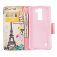 kreditkarten-turm brieftasche großhandel-Eiffelturm Brieftasche Ledertasche für Samsung J3 J3 2016 J5 J120 J510 J710 A510 A310 Hinweis 7 zurück Stand Inhaber Kreditkarteninhaber
