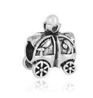 Wholesale halloween pumkin - Fits Pandora Bracelets 30pcs Princess Prince Pumkin Car Silver Charm Beads Charms For Wholesale Diy European Necklace Snake Chain Bracelet
