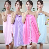 Wholesale Magic Cans - Magic Bath Towel Adult Magicaf Bath Towel Lovers Bathrobe Towel Variety Strapless Bow Skirt Can Be Worn Superfine Fiber Wearable Lady Woman
