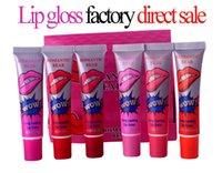 Wholesale Dhl Free Tattoo - Fashion Mate Makeup Lipstick Liquid Tint Long Lasting Lip Gloss Tattoo Pack Wow Lips M02171 free shipping by DHL