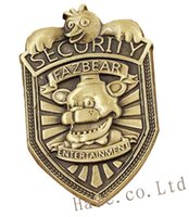 Wholesale Movie Night Gift - Wholesale-FNAF Five Nights at Freddy's Security Badge Pin Silver Gifts 2""