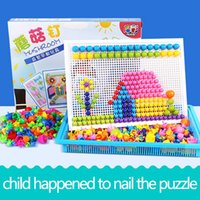 Wholesale Clear 3d Puzzles - DIY 3D Puzzle Toys Children Jigsaw 295 Tablets of Variety Mushroom Nail Creativity Educational Imagination Puzzle Board