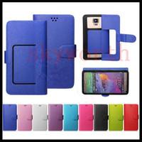 флип сотовый телефон чехол для iphone оптовых-Универсальный кошелек PU Flip Leather Case Чехол для кредитной карты для 4.0 4.5 5.0 5.5-дюймовый мобильный телефон Мобильный телефон