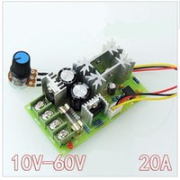 Wholesale Pwm Module - Wholesale-hot sale Universal DC10-60V 20A PWM HHO RC Motor Speed Controller Module Switch new
