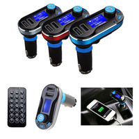 cargador universal móvil lcd al por mayor-Car FM BT66 Transmisor Bluetooth manos libres LCD Reproductor de MP3 Kit de adaptador de radio Cargador Smart teléfono móvil con paquete al por menor