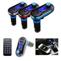 kit de coche bluetooth móvil al por mayor-Coche FM BT66 Transmisor Bluetooth Manos libres LCD Reproductor de MP3 Kit adaptador de radio Cargador Teléfono móvil inteligente con paquete al por menor