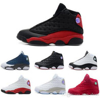 Wholesale cheap sneakers online for sale - Jumpman Cheap New XIII men Basketball Shoes red Bred He Got Game Black Sneakers Sport Shoes Online Sale US