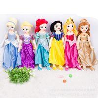 Wholesale Movies Cinderella - 67cm Soft Plush Stuffed Princess Rapunzel Snow White Ariel Aurora Beauty and the Beast Belle Cinderella Princess dolls for Girl Gift
