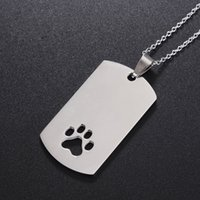 Etiquetas Del Gato Del Acero Inoxidable Baratos-Pet Cat Cat Collar Accessories Decoración ID Tags anti-perdida de pata de acero inoxidable forma personalizada etiqueta ZA5530