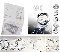 6pack / lot Super brillant 1440pc SS3-SS30 Crystal Clear / White Verre AA Nail Art Strass Flat Back Non Hotfix Colle sur les décorations artistiques des ongles
