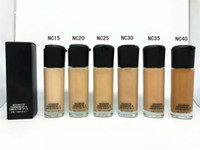 Wholesale 15 Foundation Liquid - Hot S&F 15 Liquid Foundation Natural Sun Protection Long Wear Face Concealer MACCosmetics Foundation Matchmaster Makeup Foundation