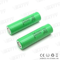 Wholesale Ion Sales - Big Sale!! Green 25r 18650 2500mah rechargeable battery 3.7v 35amp discharge li ion cells with flat top inr18650 25r