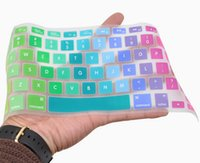 Wholesale Laptops Cover Skin - Laptop Soft Silicone Colorful KeyBoard Case Protector Cover Skin For MacBook 11 13 15 Waterproof Dustproof Multi-language