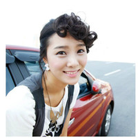 Wholesale Clip Bangs Front - Fashion women's Clip In hair bangs Front bangs curly synthetic hair pieces four colors 1pc lot fringe drop shipping