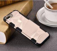 parachoques de impacto al por mayor-Ultra Slim Bumper Cover 2 en 1 Shield Soft TPU Hard PC Hybrid Impactos a prueba de golpes anti-arañazos Protector para iPhone 6s 6Plus 7 7Plus
