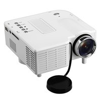 Wholesale Mini Tv Lcd Home - Wholesale-Gm40 Mini HD Home LED Projector 24w Multimedia LCD Image System Portable LED Projectors for Video TV Movie Support Hdmi VGA AV