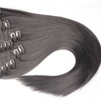 Wholesale Brown Frosted Hair Extensions - Fashionkey So Popular!Can Be Permed! Straight Clip-in Cheap Synthetic Hair Extensions False Female Hairpieces for Women 12-32 Inches