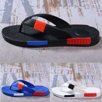 sandales confortables rouges achat en gros de-Mode Nouveau Summer Slipper Hommes Confortable Marque Casual Sandals Pantoufles Designer Loisirs Loisir Tongs Bleu Noir Blanc Rouge