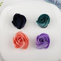 Wholesale Diy Felt Fabric - Free Shipping 2016 New 20pcs lot 4colors 4cm Fashion Handmade Fabric Felt Rose Flower DIY For Hair Accessories Headband