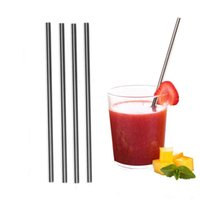 Wholesale Wholesale Stainless Picks - Food Grade 304 Stainless Steel Drinking Straws Extra LONG fits 30 oz & 20 oz Yeti Tumbler Rambler Cups