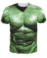 Wholesale Hulk T Shirts - Wholesale- Incredible Hulk T-Shirt Halloween Spirit 3D Print t shirt Women Men Fashion Clothing Outfits tees Summer Style tshirts