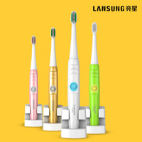 Wholesale Sonic Tooth Brushes - Lansung A39Plus Wireless Charge Electric Toothbrush Ultrasonic Sonic Rotary Electric Toothbrush Rechargeable Tooth Brush Adult 1PC