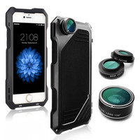Wholesale Impact Lens - For iPhone 6s Plus Case Heavy Duty High Impact Resistant Hybrid Protective Case For iPhone 6 Plus with 3 in 1 Camera Lens