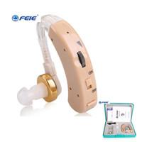 audífonos de voz al por mayor-Feie Top Sale Hearing Aid 2019 nuevo diseño detrás del oído Amplificadores de voz para personas sordas Supresores Ruido envío rápido S-520