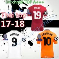 f8e7b445aa LARGE XXL 3XL 4XL 17 18 Champions League Soccer Jerseys MILNER GERRARD COUTINHO  FIRMINO HENDERSON STURRIDGE MANE 2017 2018 home Lallana