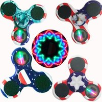 Wholesale Lights For Fingers - LED Lights replacement for LED Fidget Spinner plastic LED Fidget Spinners Finger Fingertip Gyro Tri-Spinner Handspinner Fidget Toys