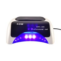 Wholesale 18k Led Lamp For Nails - Professional LKE Led UV Lamp 18K 48w Led Lamp Nail Dryer for Polish Gel Curing Nail tools Automatic Hand Sensor EU AU US UK Plug(0603029)
