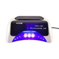 Wholesale 18k Led Uv - Professional LKE Led UV Lamp 18K 48w Led Lamp Nail Dryer for Polish Gel Curing Nail tools Automatic Hand Sensor EU AU US UK Plug(0603029)