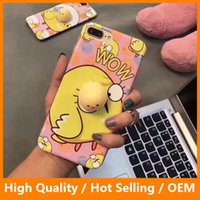 Wholesale Cover Iphone Chick - Phone Back Case For iPhone 7 7 Plus Capa Soft Kitty Rabbit Chick Squeeze Pressure Reduce Case for iPhone 6 6sPlus Squishy Cover