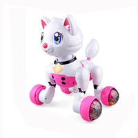 Wholesale Electronic Kitty - Intelligent Educational Voice-activated Electronic Pet Robot Kitty Poppy Cat Toy Kid Boy Girl Children Power-driven Cat Toy Gift