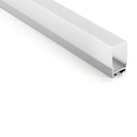 colgante de luz de techo de aluminio al por mayor-10 X 1M conjuntos / lote U tipo perfil de aluminio anodizado y AL6063 T6 perfil llevado 1M para techo o iluminación colgante
