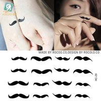 Wholesale Mustache Tattoos - Wholesale- Body Art Beauty Makeup Pink Sexy little mustache Tattoo 47D Waterproof Temporary Tattoo Stickers