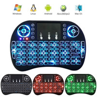 Wholesale Mini Controler - Fly Air Mouse Touchpad 2.4GHz Mini i8 Wireless Keyboard Backlit With Backlight RGB Handheld Remote Controler Keyboards for Smart TV PC V2818