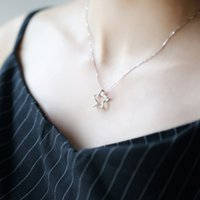 Asian & East Indian origin of halloween - Rising star necklace star of origin simple and delicate jewelry pure silver necklace for girls