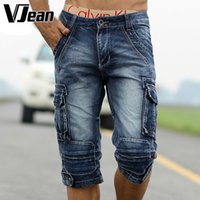 Wholesale Denim Cut Off Shorts - Wholesale-V JEAN Man's Vintage Cut Off Jean Shorts #9C207