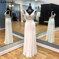 Wholesale Sleeveless Illusion Lace - Beaded Applique Lace Open Back Prom Evening Dress Fitted Net Floor Length Lewande 50255 Sleeveless Illusion Straps Red Carpet Celebrity Gown